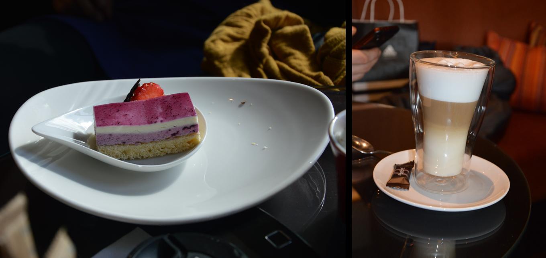 Kage og Café Latte på Marriott