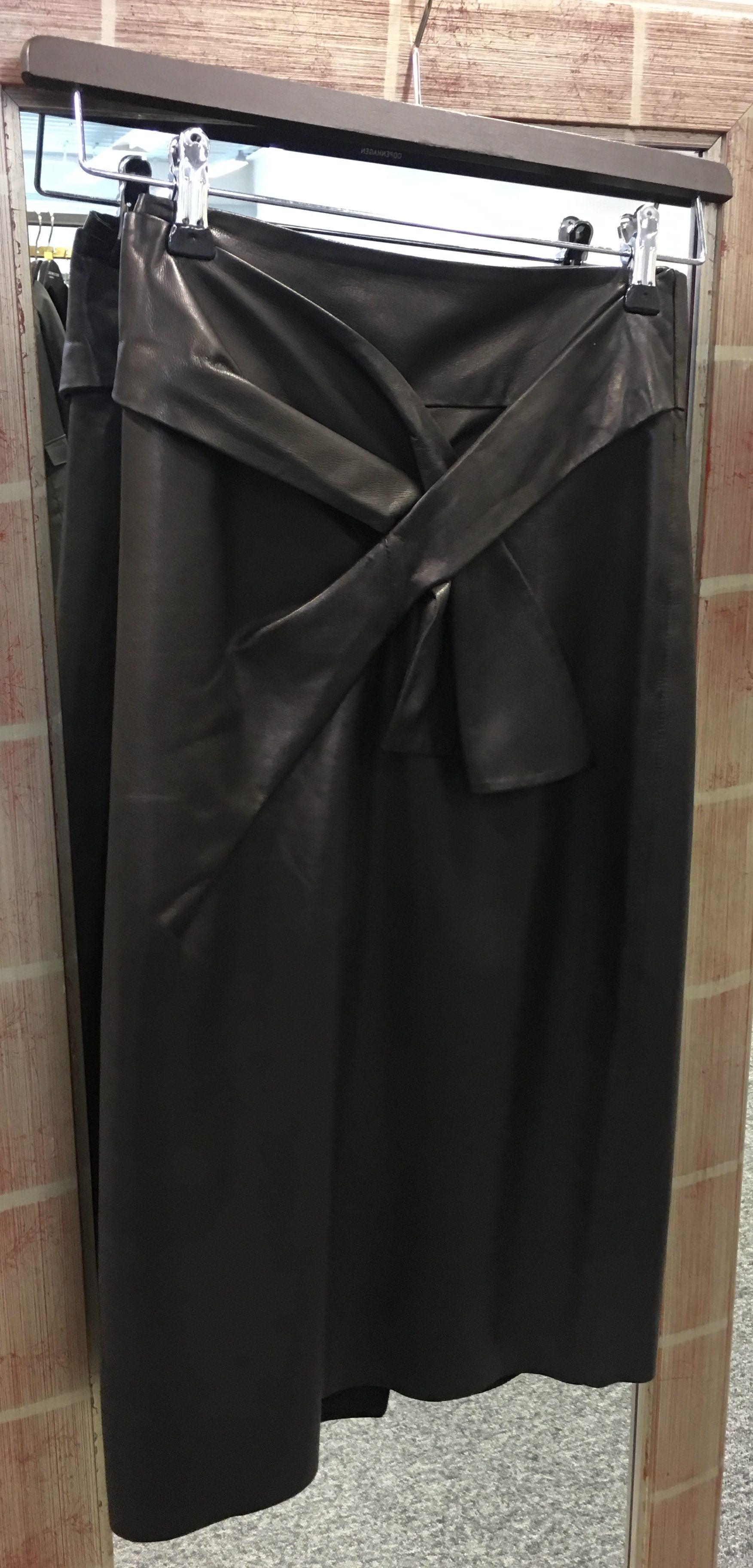 bruuns bazaar læder nederdel